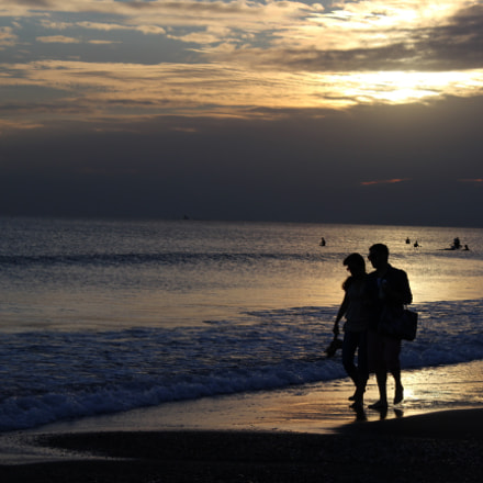 Couple and sunset, Canon EOS KISS X5, Canon EF-S 18-55mm f/3.5-5.6 IS II