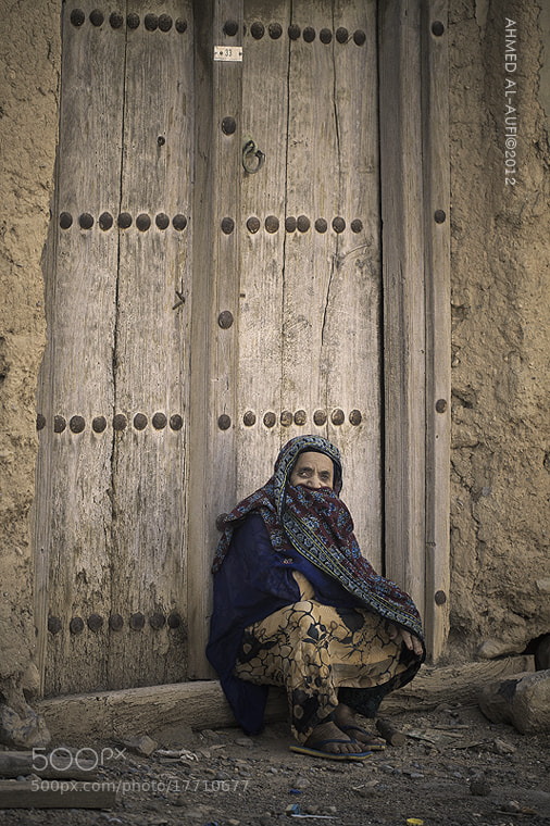 Photograph The Sitting oldwoman - OMAN  by AHMED AL-AUFI on 500px