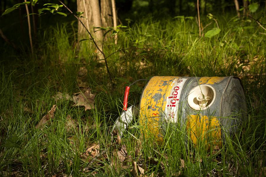 Abandoned Igloo Water Cooler
