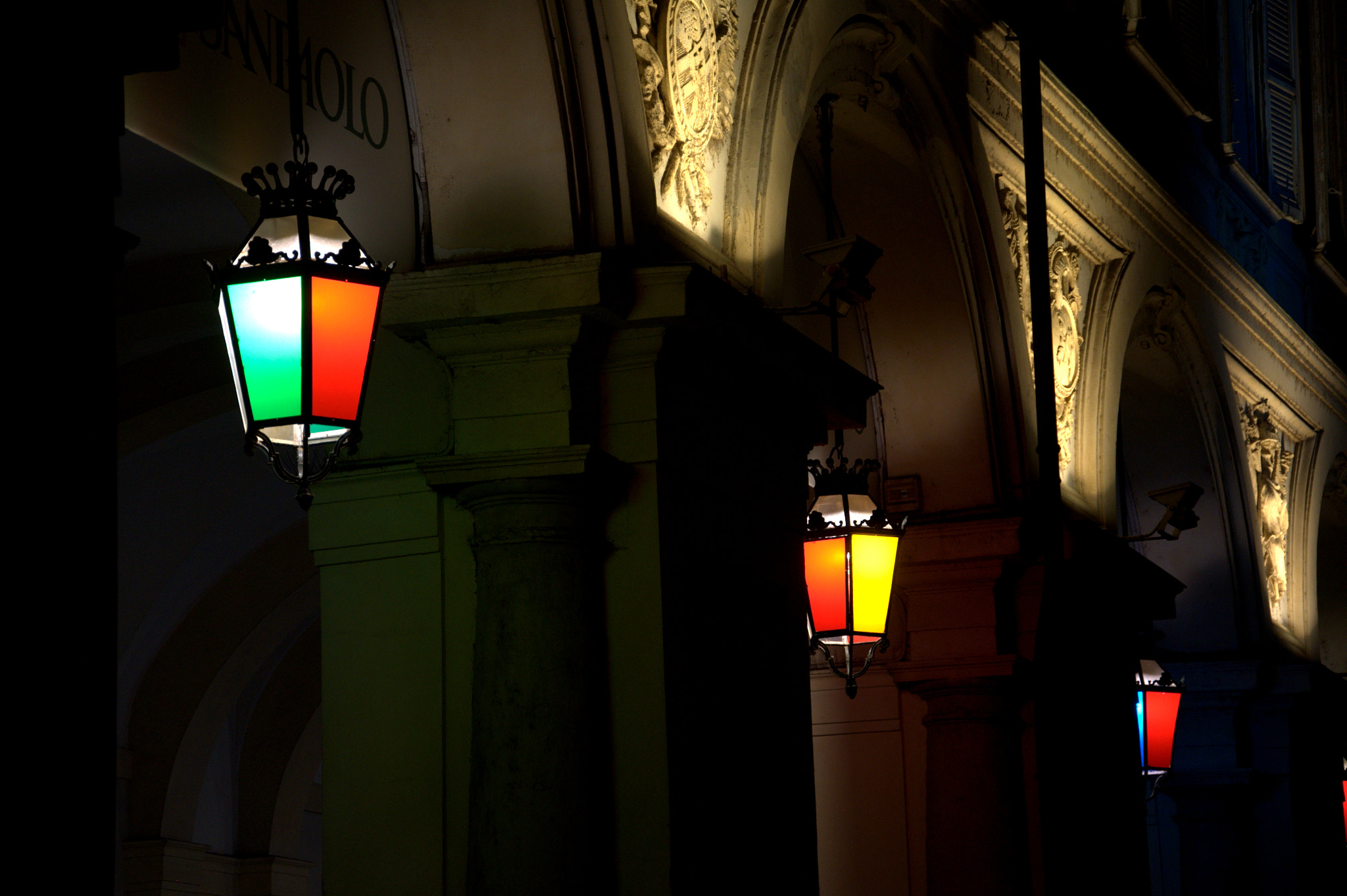 Photograph Turin colored lamps  by Giovanni Rizzo on 500px