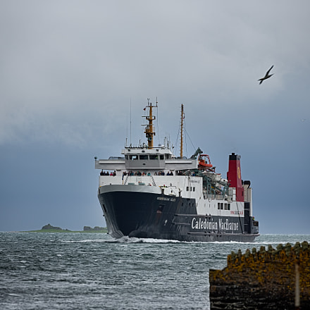 MV Hebridean Isles approaching Port Askaig