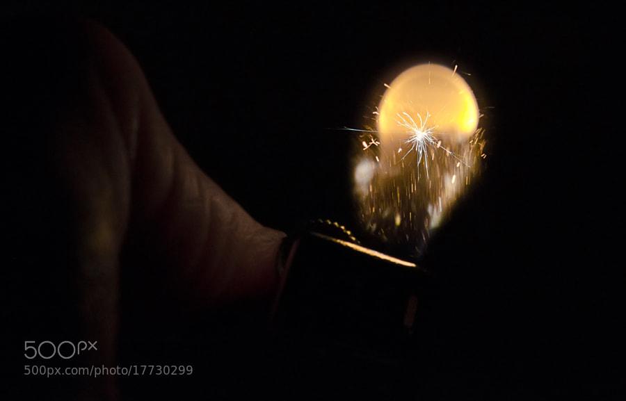 Macro shoot of a lighter