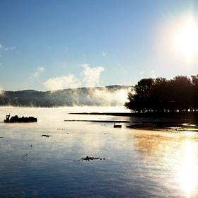 Luci e nebbie al mattino  / Morning lights and fog - Arona, Italy 2016