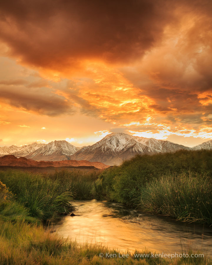 Photograph Owens River Sunset by Ken Lee on 500px