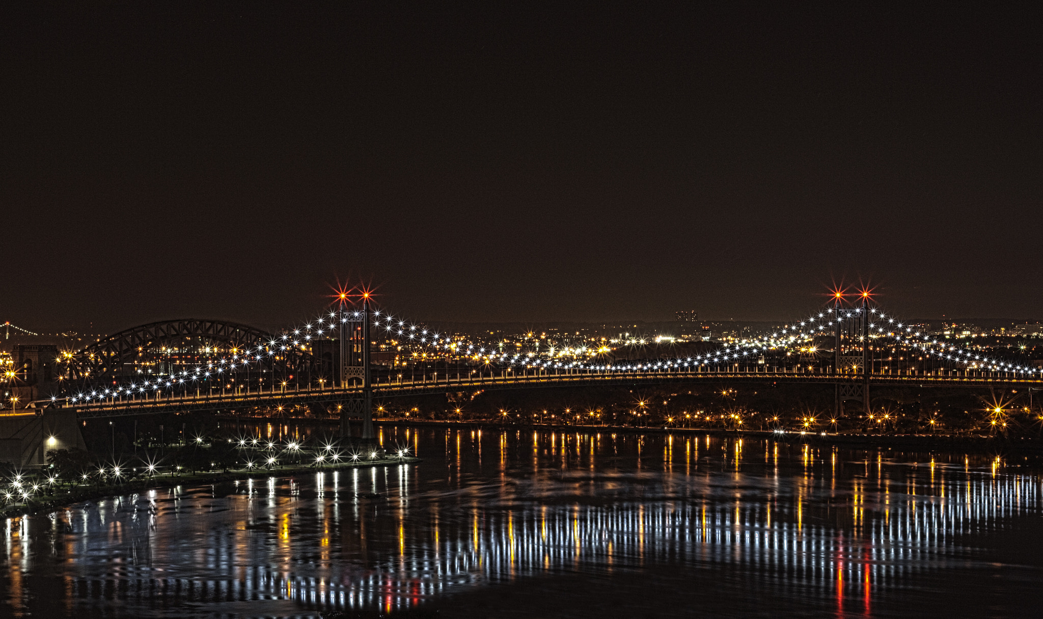 Photograph Triboro Bridge at Night by Doctored Photography on 500px