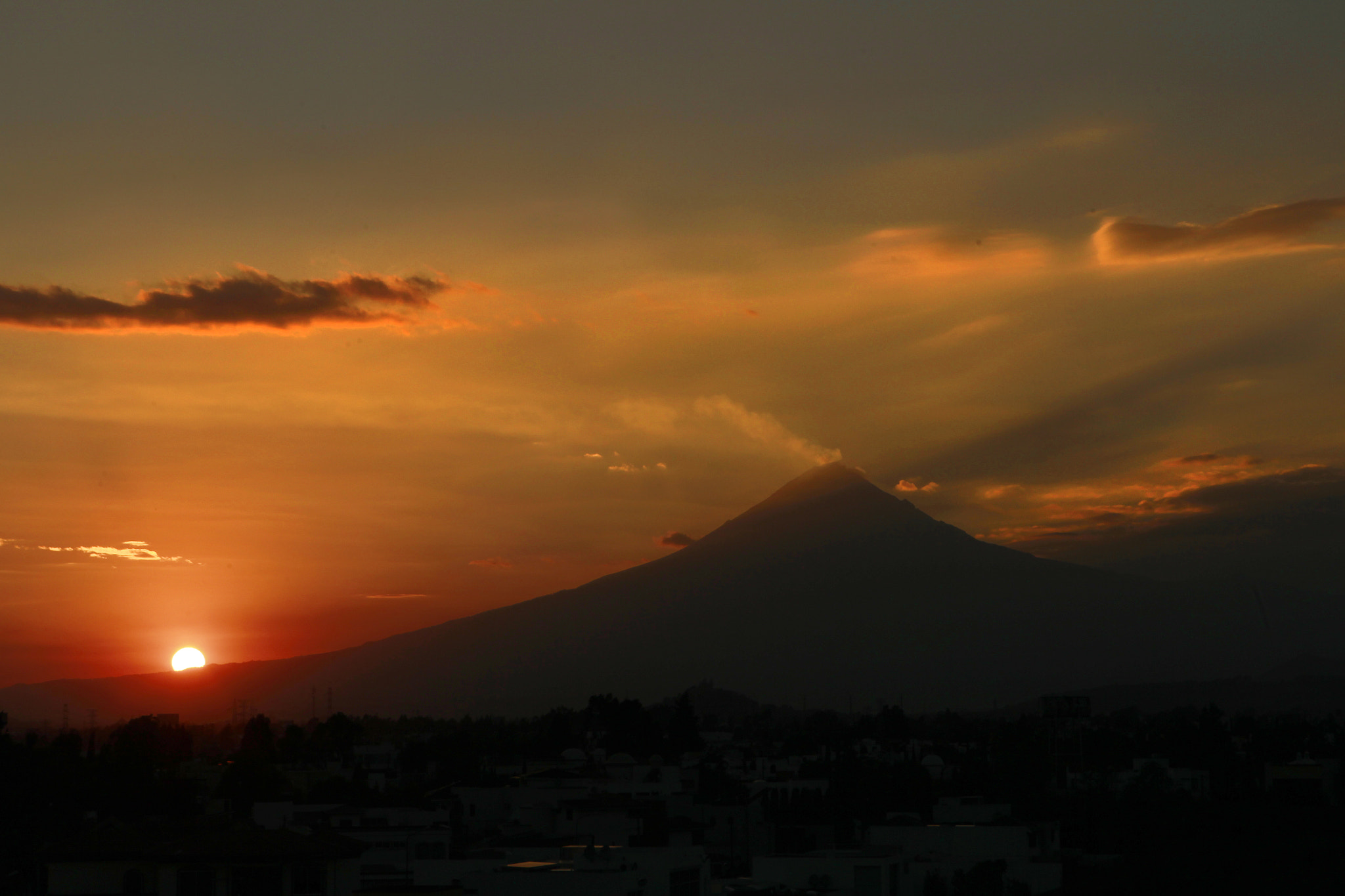 Photograph Sunset and Popocatepetl, by Cristobal Garciaferro Rubio on 500px