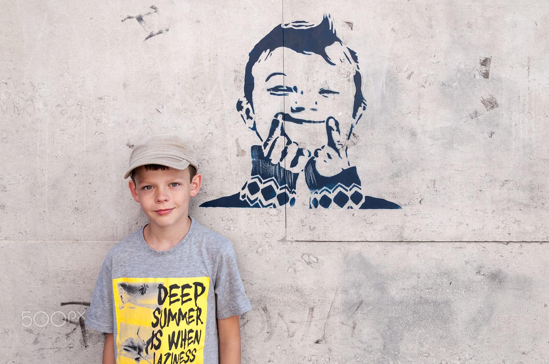 Random graffiti look alike kid by David Kalous on 500px
