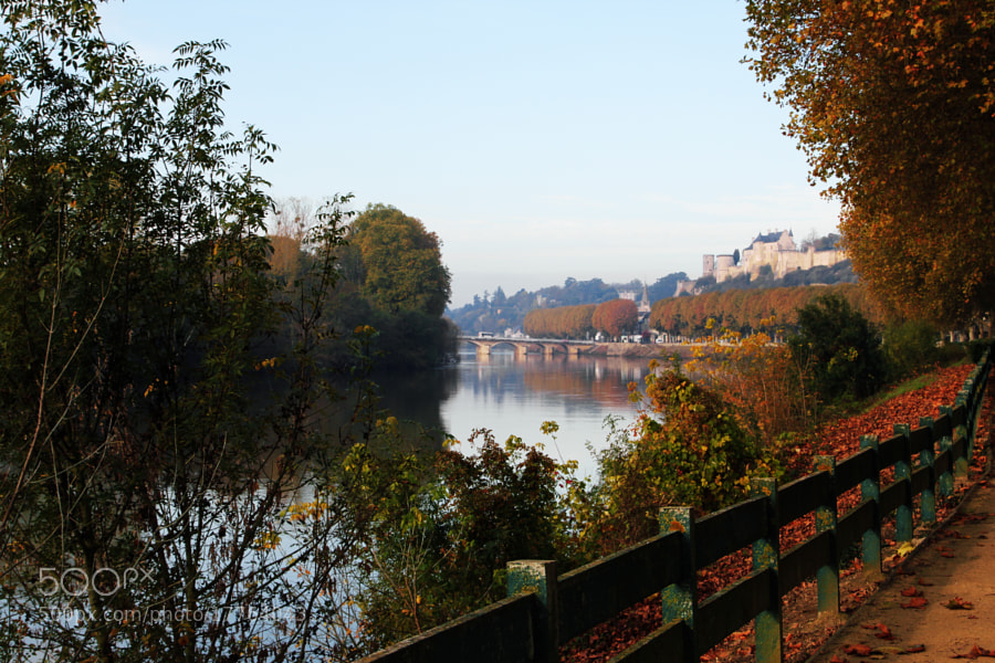 Autumn in Chinon city