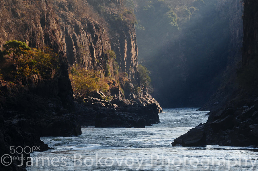 Batoka Gorge in beautiful afternoon light. This section of the gorge is directly below Victoria Falls Bridge that spans the mighty Zambezi River.