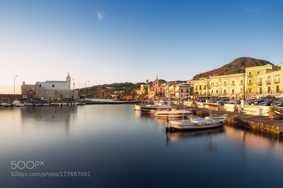 Marina Corta during sunrise
