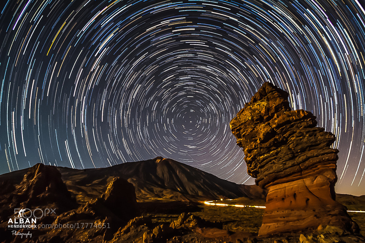 Photograph Volcanic Startrail by Alban Henderyckx on 500px