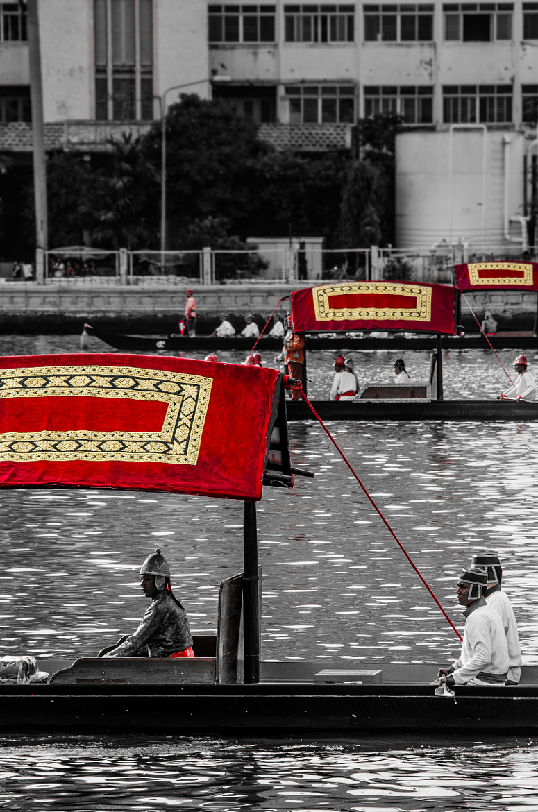 Photograph The Royal Barge Procession : in a Row by Silp Satjawattanavimol on 500px