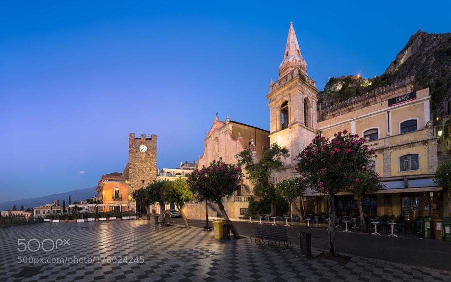 Piazza IX. Aprile in morning twilight