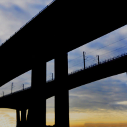 Sun rise bridge