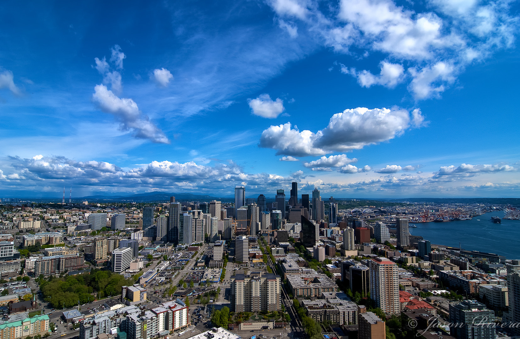 Photograph Seattle From the Air by Jason Rivera on 500px