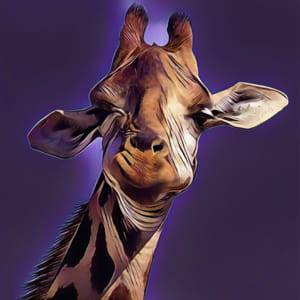 Goofy Giraffe - Abstract Edition 1