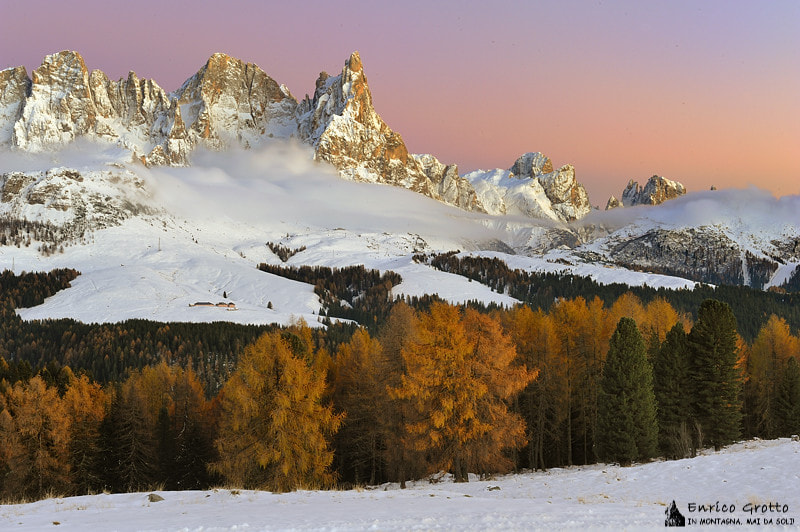 Photograph E Si Fa Sera | Dolomiti by Enrico Grotto on 500px