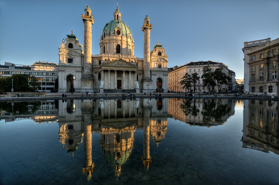 most beautiful cities in the world - Karlskirche by César Asensio on 500px.com