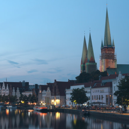 Lübeck in the evening