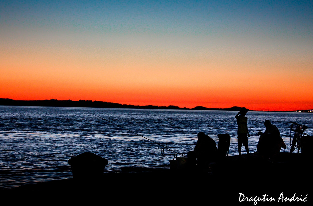 Photograph Fishermans in the sunset by Dragutin Andric on 500px
