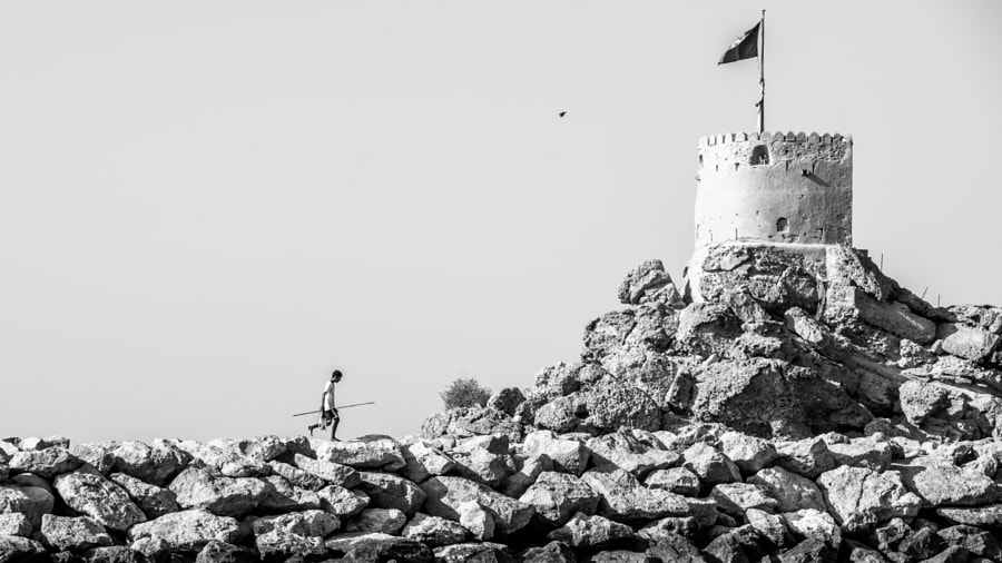 Walking Fisherman and Defense Tower