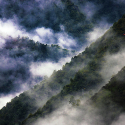 Clouds and forests., RICOH PENTAX K-3 II, smc PENTAX-FA 100-300mm F4.7-5.8