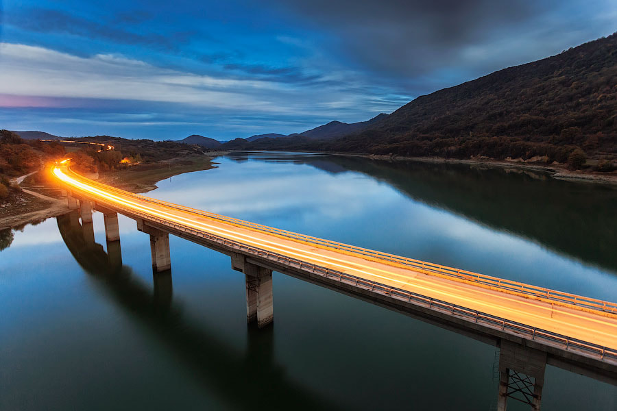 Photograph Twilight Highway by Evgeni Dinev on 500px