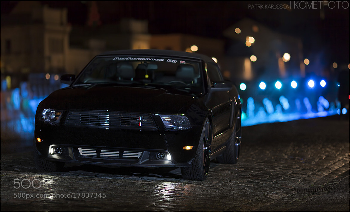 Photograph Mustang by night by Patrik  Karlsson on 500px