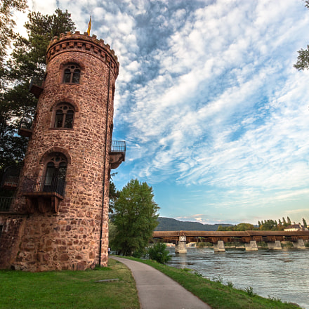 Tower next to river, Canon EOS 6D, EF16-35mm f/4L IS USM