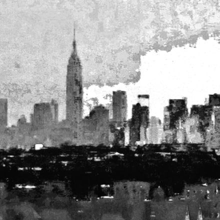 Skyline with Empire State, Canon POWERSHOT ELPH 300 HS