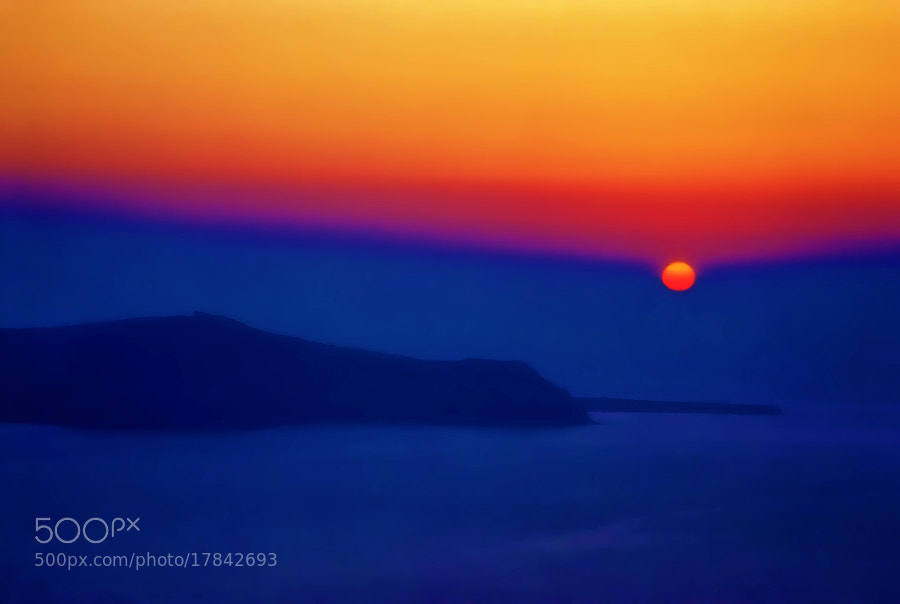 Santorini Sunset - Santorini IV