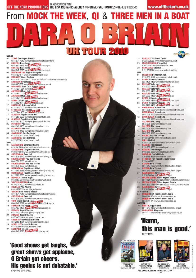 Photograph dara o'briain > UK tour poster by Andy Hollingworth on 500px