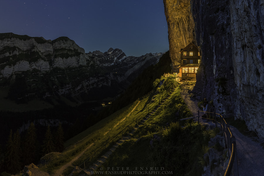 Ebenalp, Cliffside Swiss Restaurant by Peter Ensrud on 500px.com