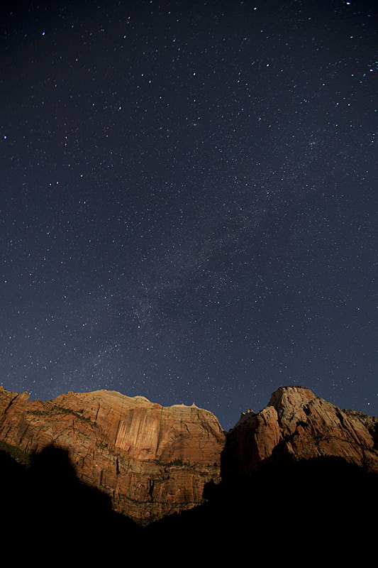 Photograph Moonrise Light on the CLiffs of Zion by Steve Shuey on 500px