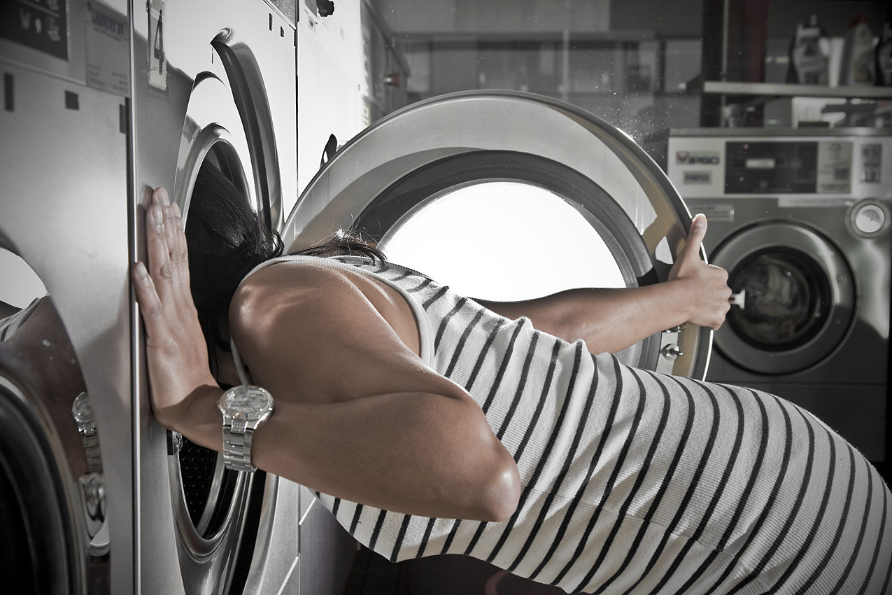 Photograph Crystal@the laundromat-I by II-Crystal on 500px