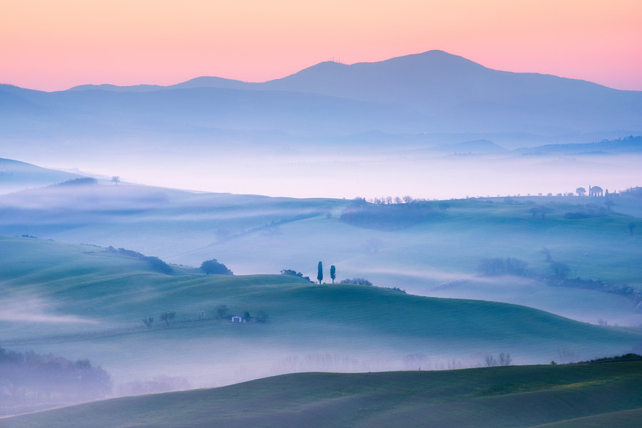 Blue Tuscany Hills by Daniel F. on 500px.com