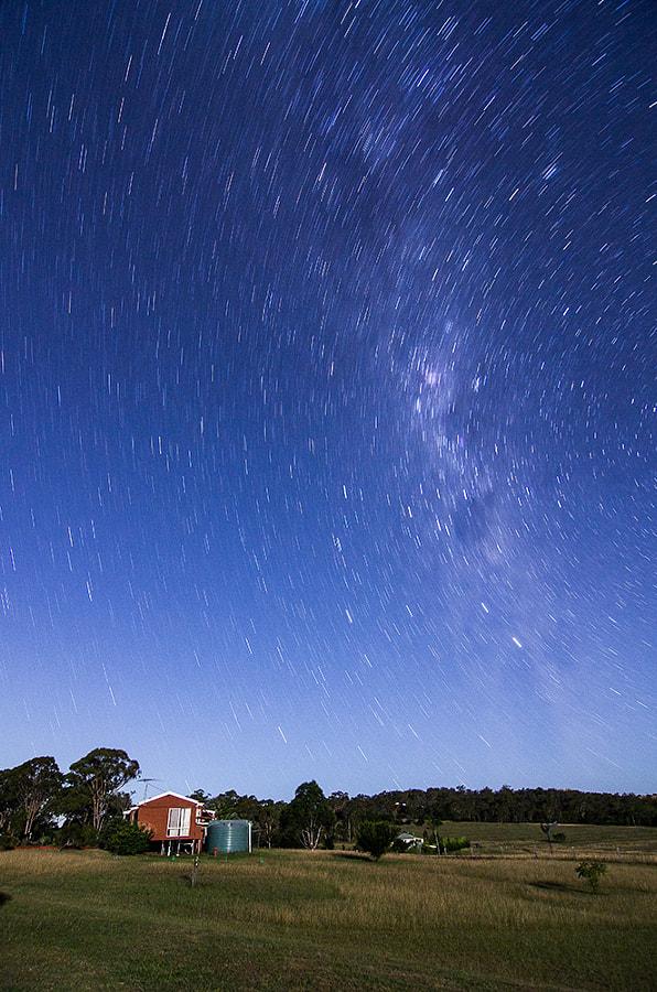Backyard star trails by Ashraf Saleh on 500px.com