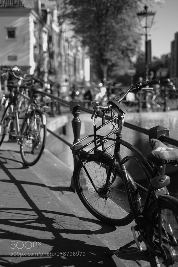 Bike at canal in Amsterdam 55