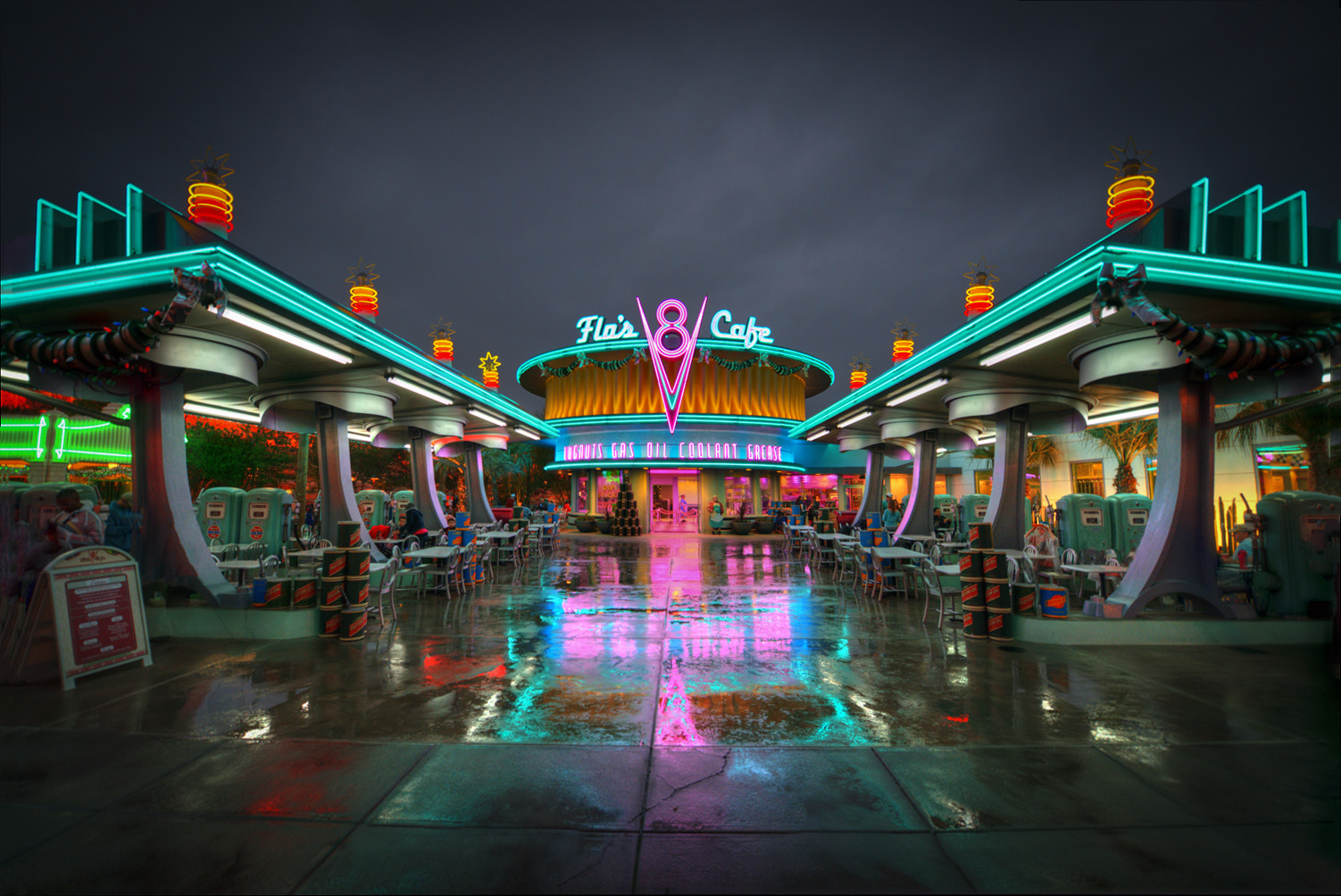 Photograph Rainy Night At Flo's Cafe by William McIntosh on 500px