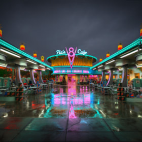 Rainy Night At Flo's Cafe by William McIntosh on 500px.com