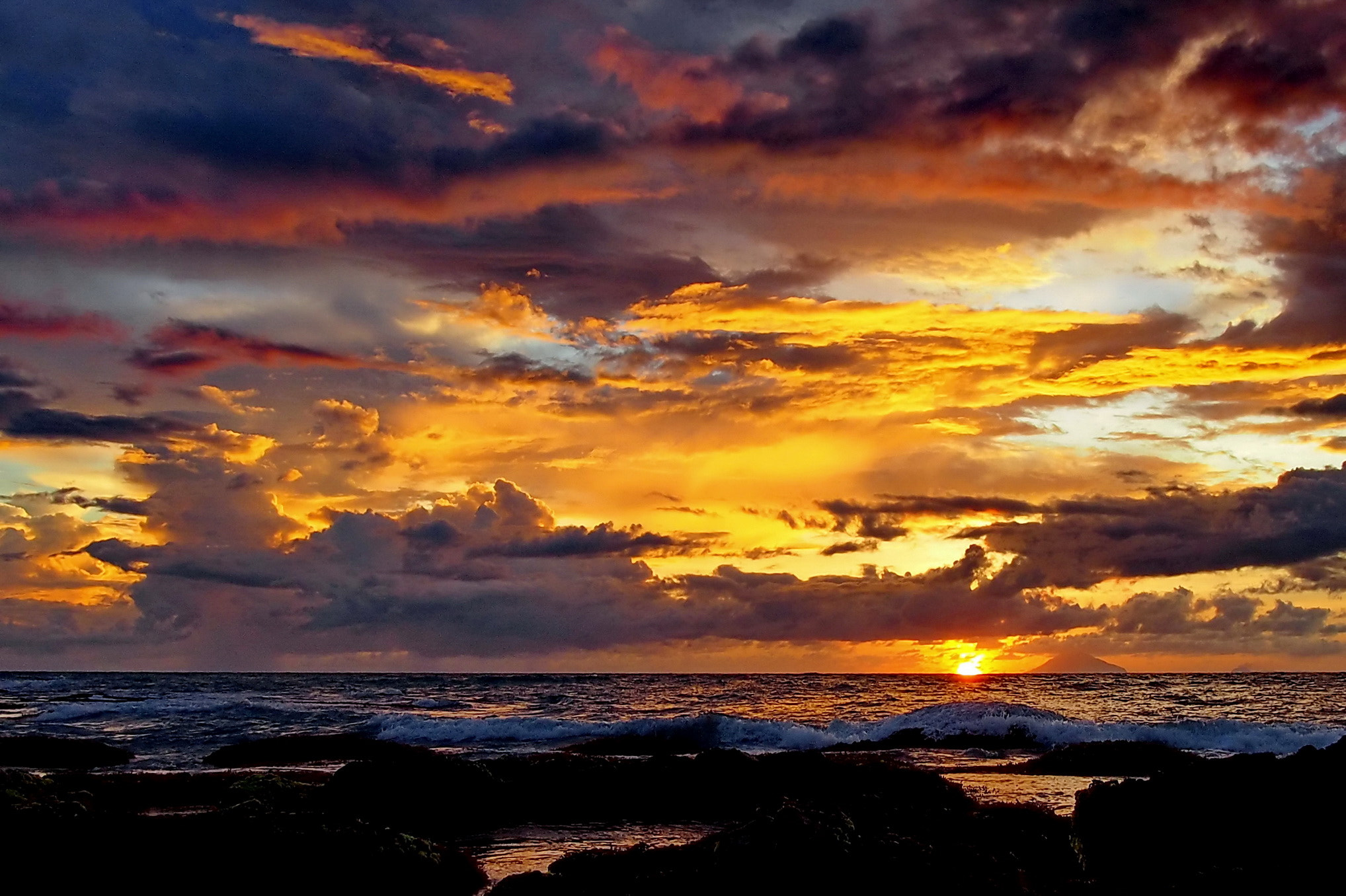 Photograph beautiful sunset @ Anyer beach by Mia Besari on 500px