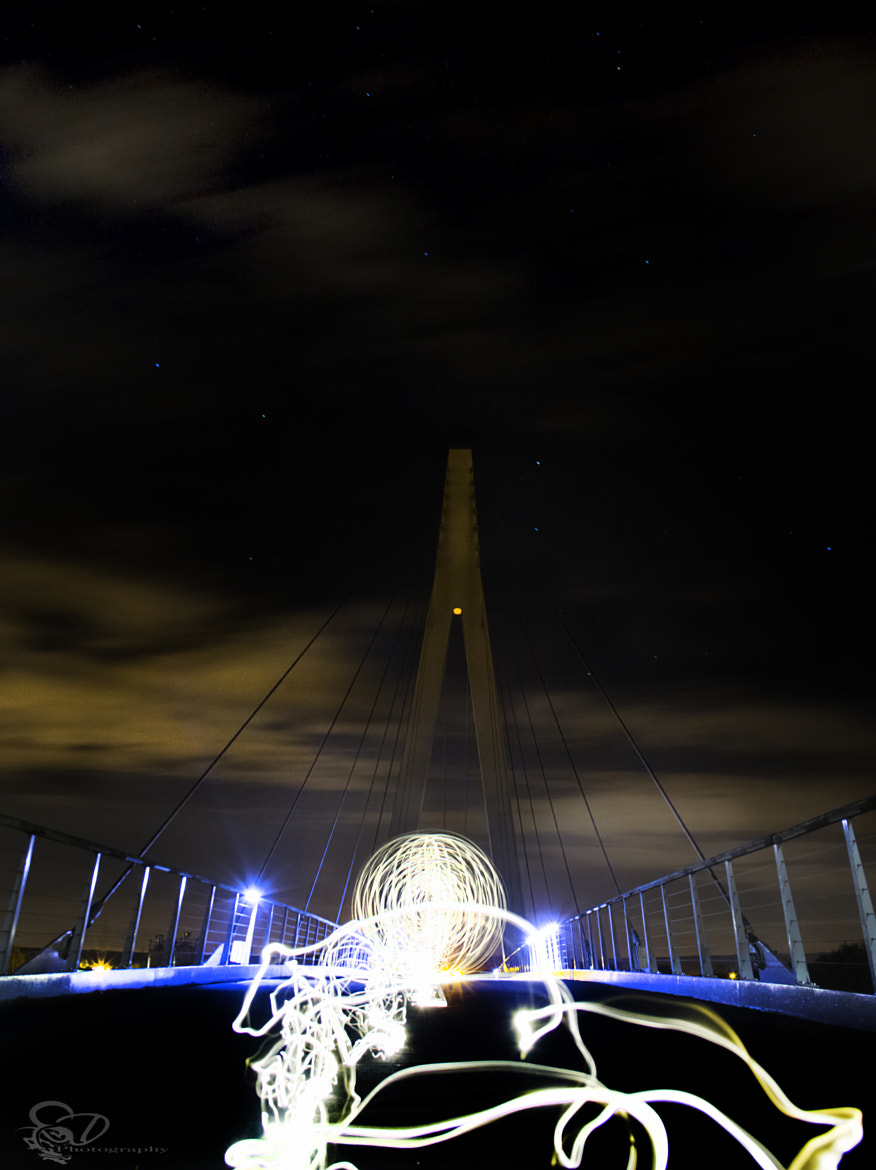 Photograph lightpainting the bridge by Danny schurgers on 500px