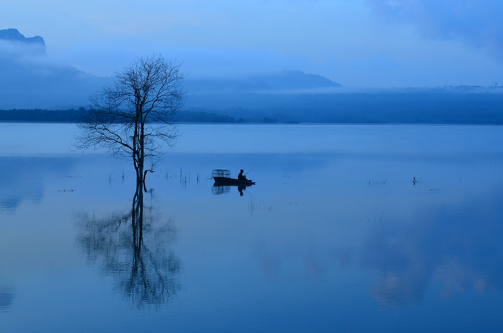 Photograph calm blue morning by Anuwat L on 500px