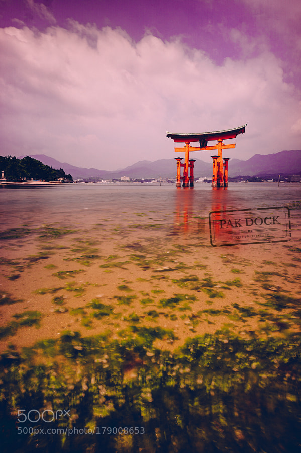 Rising tide at the Great Torii - Miyajima