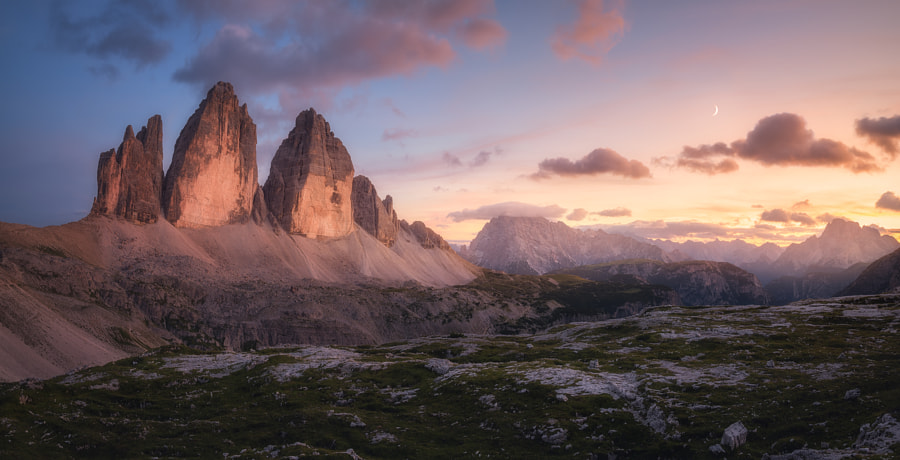 An Evening in the Dolomites by Daniel F.