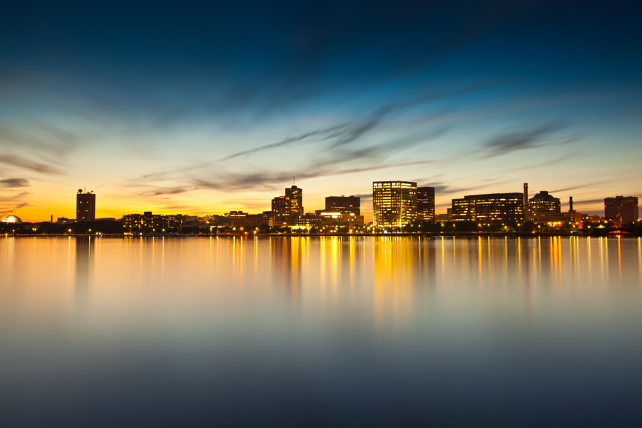 Charles River at sunset