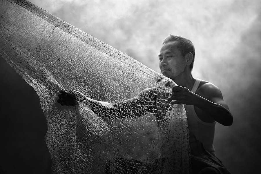 Photograph old fishing net by asit  on 500px