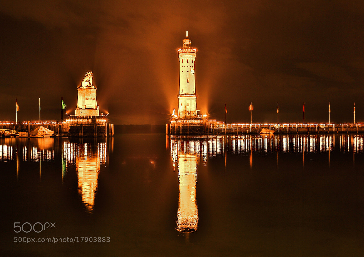Photograph Harbour of Lindau by night. by ehut photo on 500px
