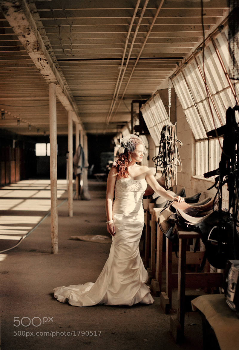 Photograph Bride in Barn by Ian Pitts on 500px