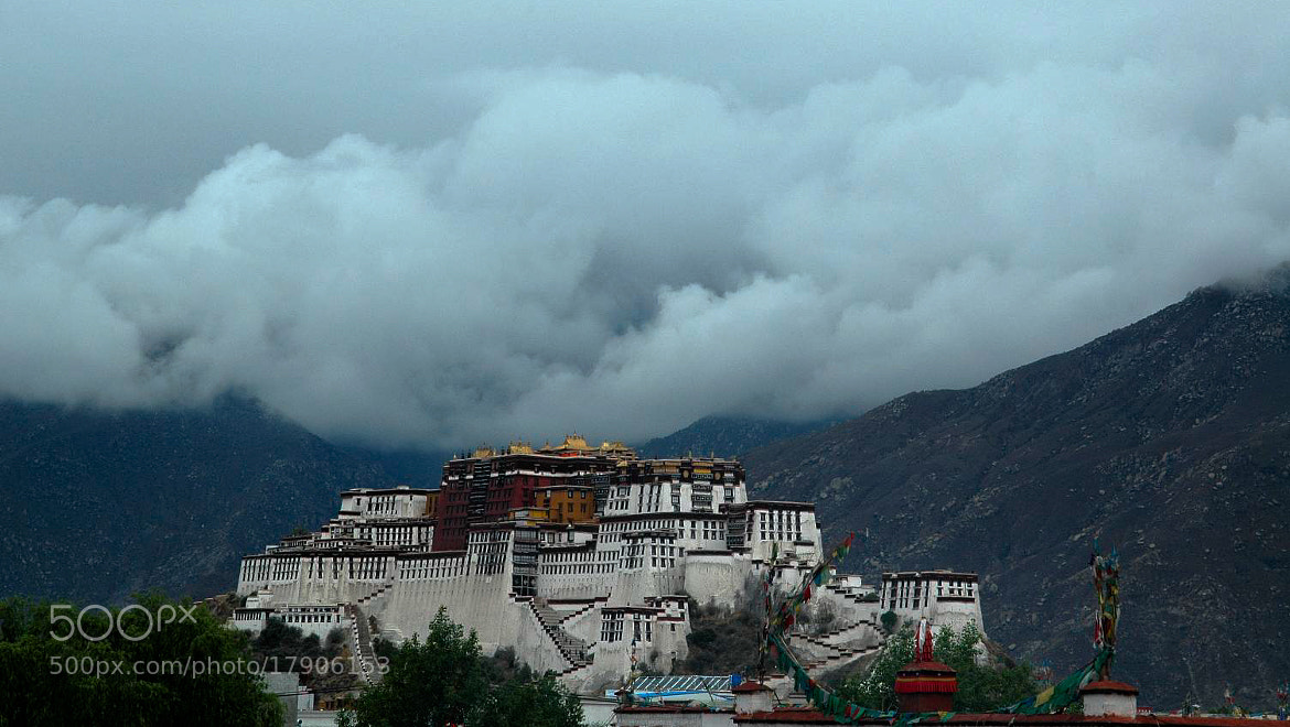 Photograph Misty clouds over the Potala Palace - Tibet by GABOR SZARVAS on 500px